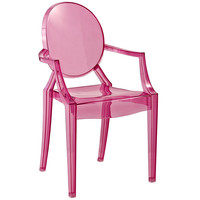 KIDS Philippe Starck Style Ghost Arm Chair Pink