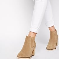 ASOS EACH AND EVERY DAY Wide Fit Suede Ankle Boots