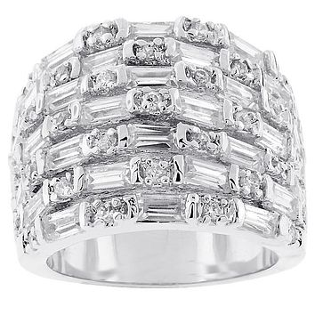 Idarah Multi Row Wide Band Ring  | 9ct