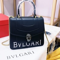 Top Quality Bvlgari Women Leather Tote Bag Shoulder Bag Messenger Bag Shopping Bag