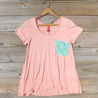 Cloudy Valley Tee in Peach