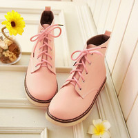 Cheap shoes for women fashion pastel martin boots