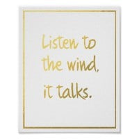 Native American Proverb listen to the wind part 1 Poster