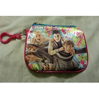 One Direction Coin Purse Id Holder Pink Multi I Love One Direction 1D