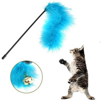 New Cute Cat Kitten Pet Teaser Turkey Feather Activity Toy Wire Chaser Toys = 1930014020