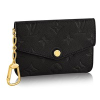 Louis Vuitton Monogram Empreinte Leather Key Pouch Noir Article: M60633