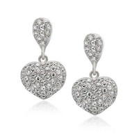 Bling Jewelry Puff Dazzly Earrings