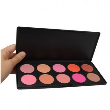 10 Color Makeup Cosmetic Blush Palette