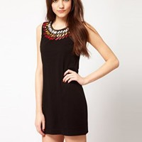 French Connection Aztec Jersey Dress at asos.com