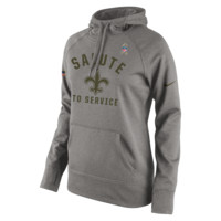 Nike Salute to Service Pullover (NFL Saints) Women's Performance Hoodie
