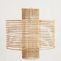 Deco Rattan Pendant Lamp by Anthropologie Neutral One Size Lighting