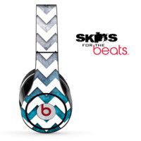 Abstract Oil Painting and White Chevron Pattern Skin for the Beats by Dre Solo, Studio, Wireless, Pro or Mixr