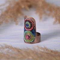 Handmade copper ring women's fashionable fine present stylish unique accessories