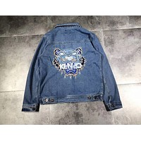KENZO Cowboy jacket men and women retro trend couple models