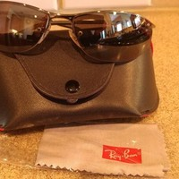 Ray-Ban Top Bar Gunmetal Framed Sunglasses Italy RB 3179 Case Cleaning Cloth