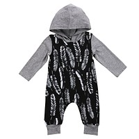 NEW Infant Baby Boys Clothes Long Sleeve Cotton Romper Cute Hooded New Rompers Outfit Clothing Baby Boy US