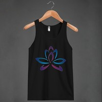Lotus Ombre - Grab a Shirt - Skreened T-shirts, Organic Shirts, Hoodies, Kids Tees, Baby One-Pieces and Tote Bags