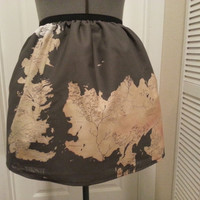 Game of Thrones inspired skirt - world map - made to order