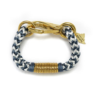 The ROPES | Navy Chevron Gold & Blue Bracelet