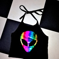 SWEET LORD O'MIGHTY! DISKO ALIEN HALTER IN BLACK