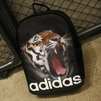Adidas Fashion Animal Print School Shoulder Bag Satchel Travel Bag Backpack