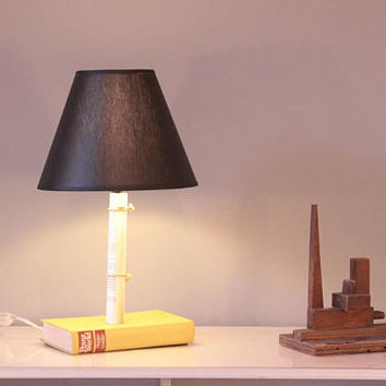 Table lamp, Book Lamp, Desk, Lamp, Upcycle light,  nightstand lamp, book lovers gift, Recycled lamp, decorative lamp, Christmas gift, lamps