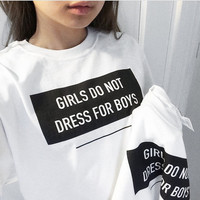 Girl Do Not Dress For Boy T Shirt -..