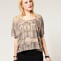 Just Female | Just Female Eath Print Cropped T-Shirt at ASOS