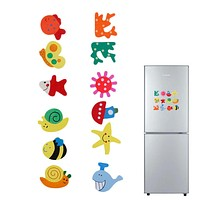 Baby Kid Wooden Magnet Educational Toy Kitchen Fridge Cartoon Funny Gift