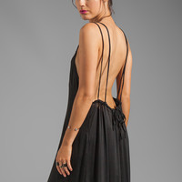 Acacia Swimwear Hana Backless Maxi Dress in Storm