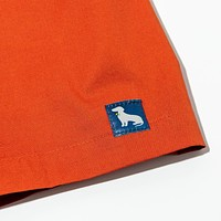 Solid Deep Orange  Boxer Short - Buckner