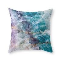 Society6 Crystals Throw Pillow