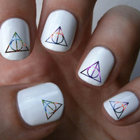 Galaxy Deathly Hallow Nail Art Decals Nail Stickers