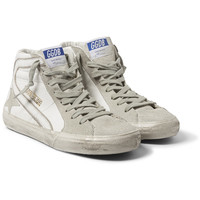 Golden Goose Deluxe Brand - Distressed Leather and Suede High-Top Sneakers   MR PORTER