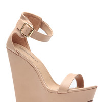 Breckelles Matte Vivi Natural Wedge