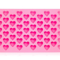 Silicone Heart Design Cake Mold & Ice Tray (Pink)