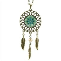 Dreamcatcher Pendant Mandala Necklace
