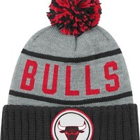 Chicago Bulls High 5 Vintage Cuffed Pom Hat
