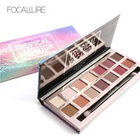 Focallure 14 Earth Color Matte Pigment Glitter Eyeshadow Palette Cosmetic Makeup Set  Eye Shadow palettes