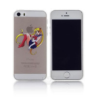 Sailor Moon Transparent iPhone 4/ 5 / 5s / 6 Hard Cover Case