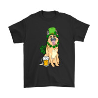 LMFV4S German Shepherd Luck Dog Saint Patrick's Day Dog With Beer Shirts