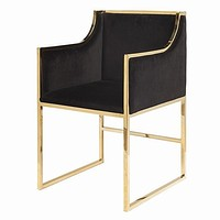 Worlds Away Anabelle Velvet Dining Chairs