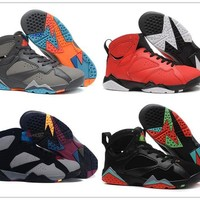 Air Jordan retro 7 French Blue basketball shoes Raptor Hares Olympic Bordeaux sport sneaker shoes,For online hot size 8-13