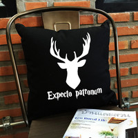 expecto patronum Pillow cover Magic spells Harry potter Throw Pillow cover