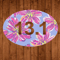 Half Marathon Lilly Pulitzer Decal For Yeti Tumblers, Cars, and Tech Devices