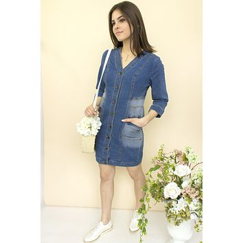 Audrina Denim Dress