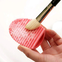 1 PC. 5 colors silicone cosmetic cleaning up washing brush UV Gel net scrubber tool as a basis for make-up for cleaning