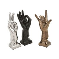 Ceramic Hand Jive - Set of 3