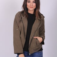 What A Bomber Army Green Jacket