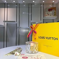 LV Louis Vuitton WOMEN'S MONOGRAM GLASS AND LEATHER SCOTT BOX